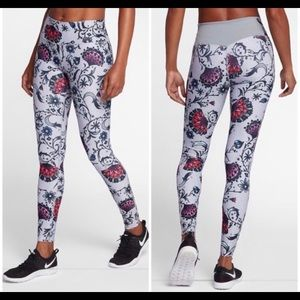 Nike Power Legend Gray Floral Training Tights